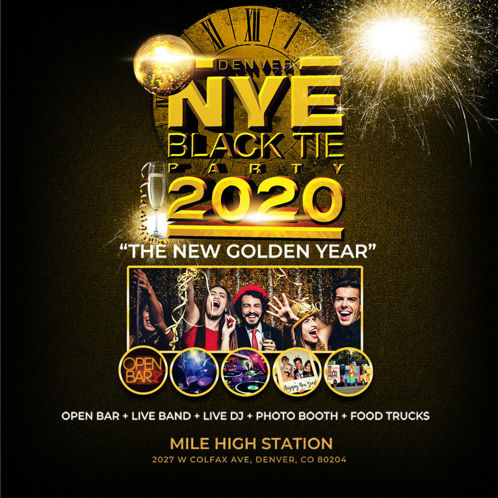 New Years Eve Black Tie Flyer v1