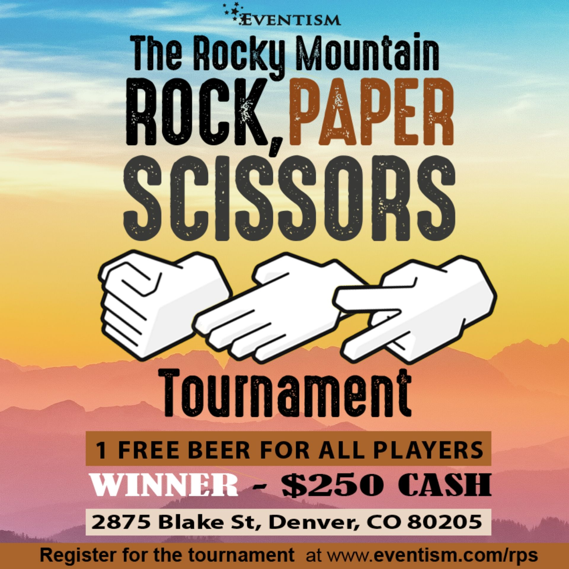 Rocky Mountain Rock, Paper, Scissors Tournament